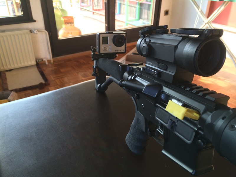 Holosun HS402D red dot on the rifle